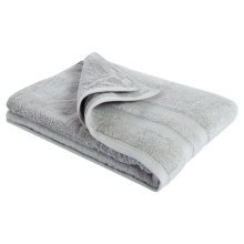 New Egyptian Cotton Soft High Quality Solid Color Washcloth Bath Towel Flannel, Light Gray (34x75cm)