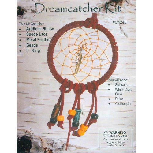 "Leathercraft Kit-Mini Dreamcatcher 3"""