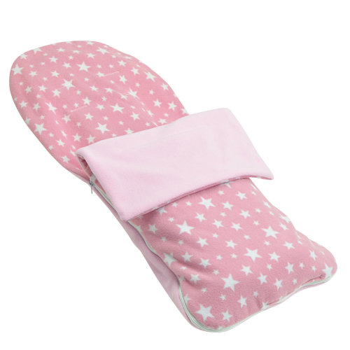 Snuggle Summer Footmuff Compatible With Chicco Snappy - Light Pink Star