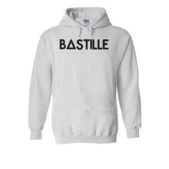 Bastille Logo Music Novelty White Men Women Unisex Hooded Sweatshirt Hoodie