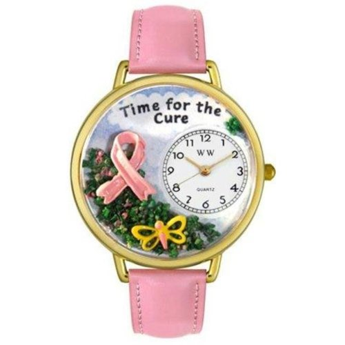 da45d93e0 Whimsical Watches G-1110001 Whimsical Unisex Time for the Cure Pink Leather  Watch on OnBuy