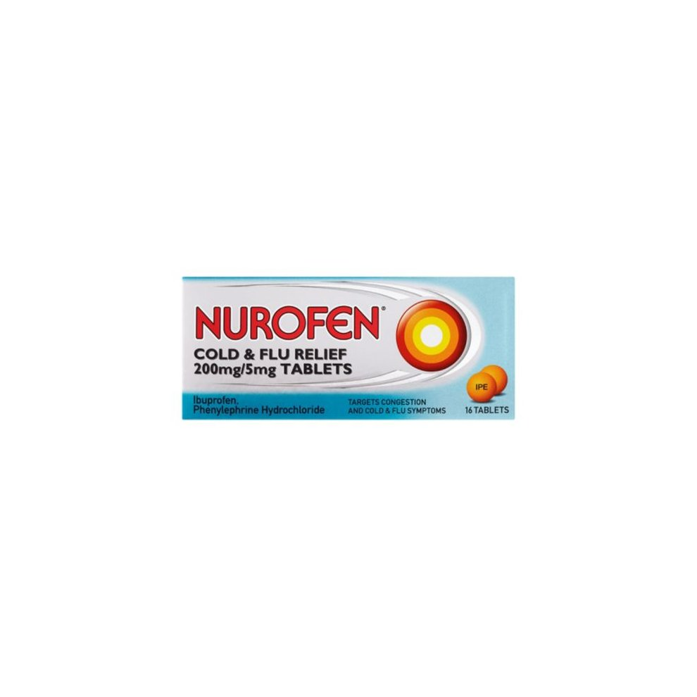 Nurofen Cold And Flu Relief 200mg/5mg 16 Tablets