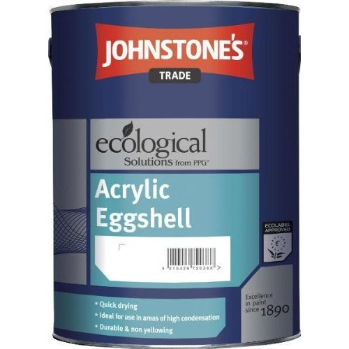 5LTR - JOHNSTONES TRADE ACRYLIC EGGSHELL BRILLIANT WHITE