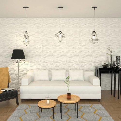 vidaXL 12x Wall Panel 3D 0.8x0.625m 6m² Wallpaper Sticker Cover Decor Sheet