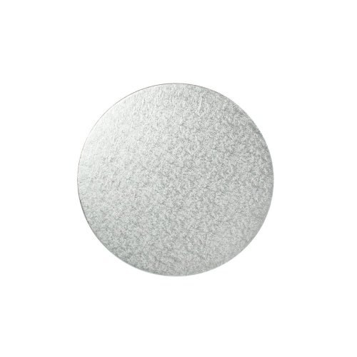 "7"" Thin Silver Round Cake Board 3mm Thick"