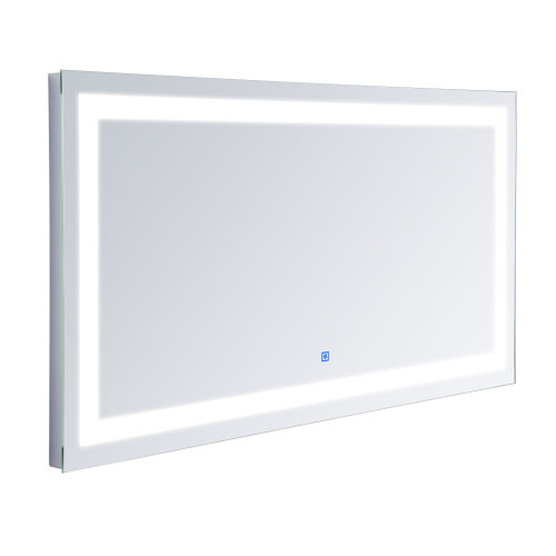 Homcom Wall-Mounted LED Bathroom Mirror | Touch-Sensitive Light Mirror