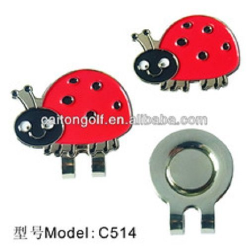 "Magnetic Golf Ball Marker on Clip""Ladybird"""