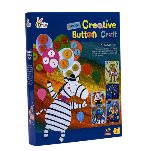 DIY Creative Button Painting Book Craft Educational Toys