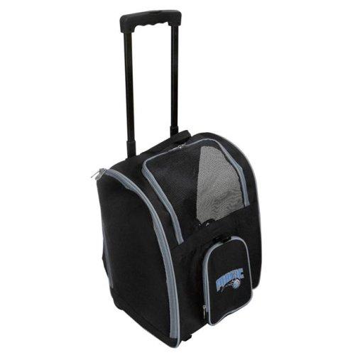 Mojo Licensing NBMGL902 NBA Orlando Magic Pet Carrier Premium Bag with Wheels - Gray