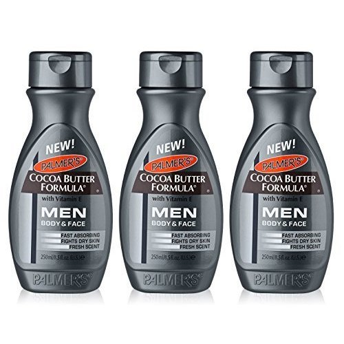 3x Palmers Cocoa Butter Formula Moisturising Lotion Body/Face MEN Dry Skin 250ml