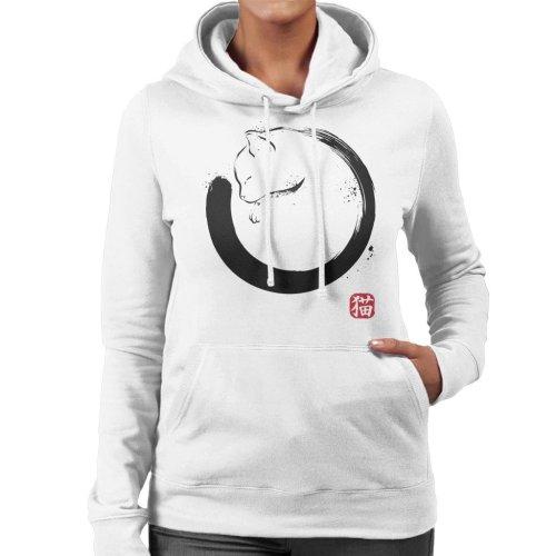 Purrfect Circle Cat Women's Hooded Sweatshirt