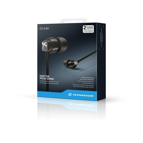 Sennheiser CX 3.00 Ear-Canal Headphones - Black