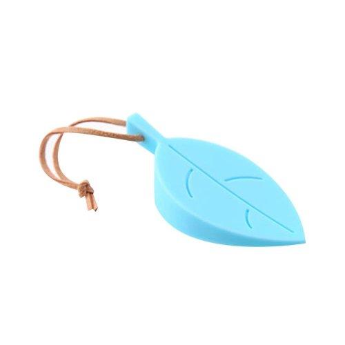Blue, 2Pcs Lovely Leaf Decoration Door Shield Door Stop/Holder