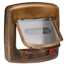PetSafe Magnetic 4-Way Cat Flap Deluxe 420 Brown 5006