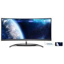 Philips BDM3490UC 34In Curved 4K Monitor -DP HDMI