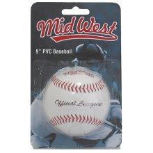 "9"" Official League Pvc Baseball Ball - 9 Mid West Inch Size Weight Bas Brand -  9 official league ball mid west inch size weight basball brand new"