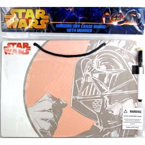 Star Wars Darth Vader Hanging Dry Erase Message Board with Marker - 11 Inches