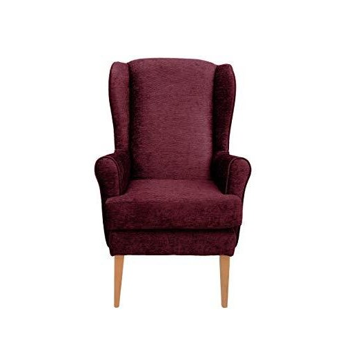MAWCARE Darcy Orthopaedic High Seat Chair - 21 x 21 Inches [Height x Width] in Darcy Bordeaux (lc21-Darcy_d)