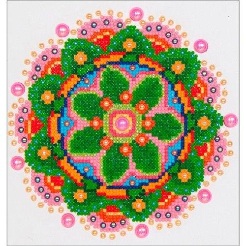 Needleart World DD3008 Diamond Dotz Diamond Embroidery Facet Art Kit - Flower Mandala