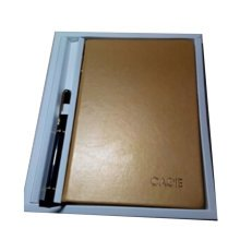 Business Supplies/Stationery Set--Notepad/Notebook & Pen & Bookmark,Champagne
