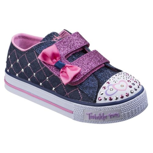 Skechers Childrens Girls SK10788N Shuffles Glitter Crush Sports Shoes/Trainers