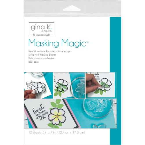 "Gina K Designs Masking Magic Sheets 5""X7"" 12/Pkg-"