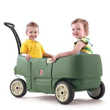 Step2 Step 2 Wagon For Two Plus Willow Green