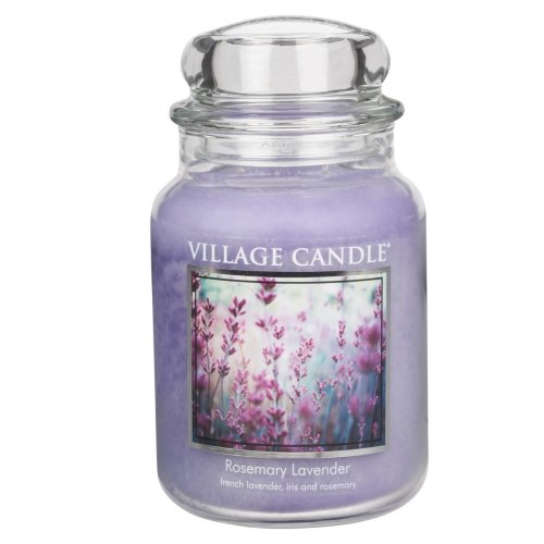 Village Candle Premium 26oz Scented Candle Jar Rosemary Lavender