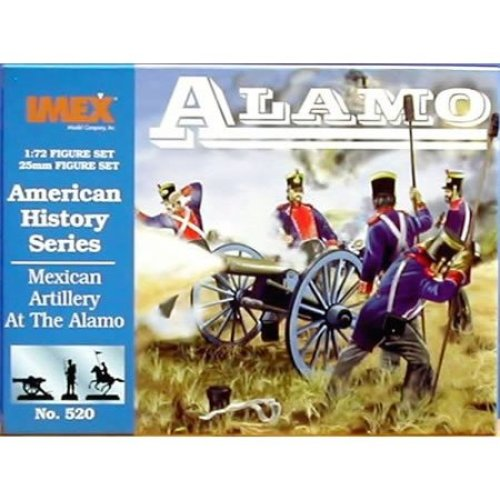 Mexican Artillery At The Alamo - American History Series - 1/72 Plastic Soldiers by IMEX