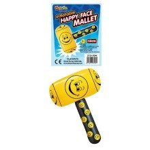 12 Inflatable Happy Face Mallets 50cm
