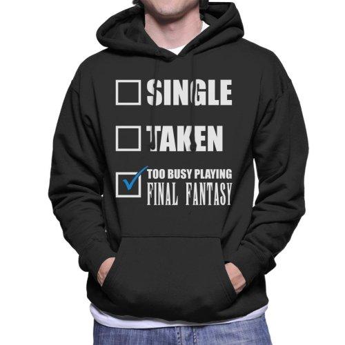 Single Taken Too Busy Playing Final Fantasy Men's Hooded Sweatshirt