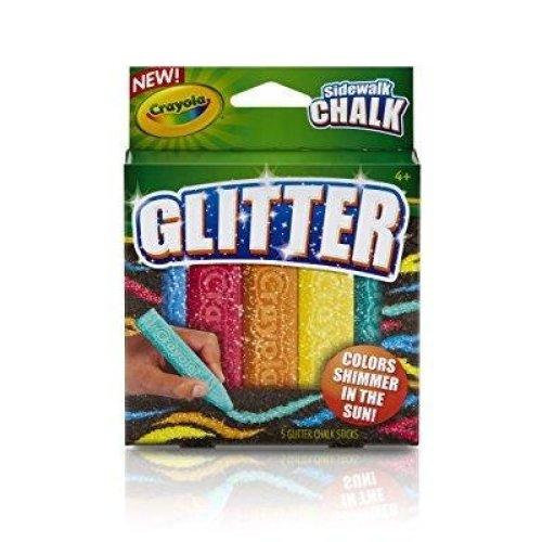 Crayola Special Effects Sidewalk Chalk - Glitter (5 Chalk Sticks)