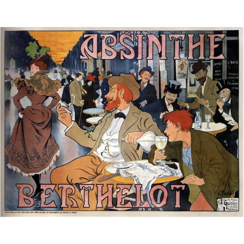 Advertising poster - Absinthe Berthelot - High definition printing on stainless steel plate