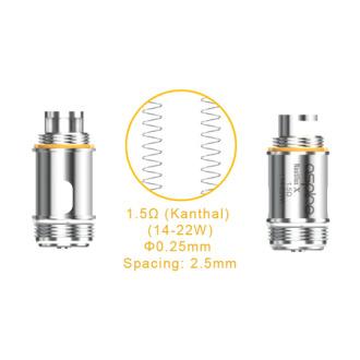 Aspire Nautilus X Coil 1.5? 5pk
