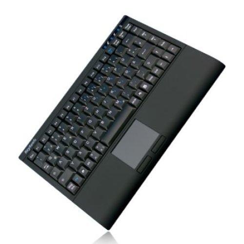 Keysonic ACK-540RF+ Wireless Mini Keyboard, USB, Built-in Touchpad