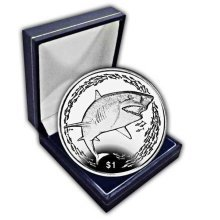 British Virgin Islands 2016 Lemon Shark Unc. CuNi Coin in a box