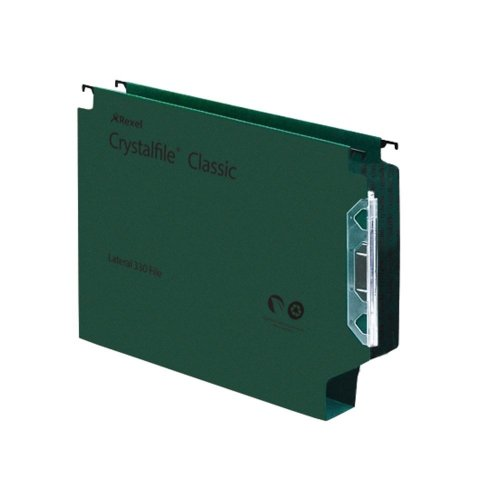 Rexel Crystalfile Classic '330 Lateral File 50mm Green (25)