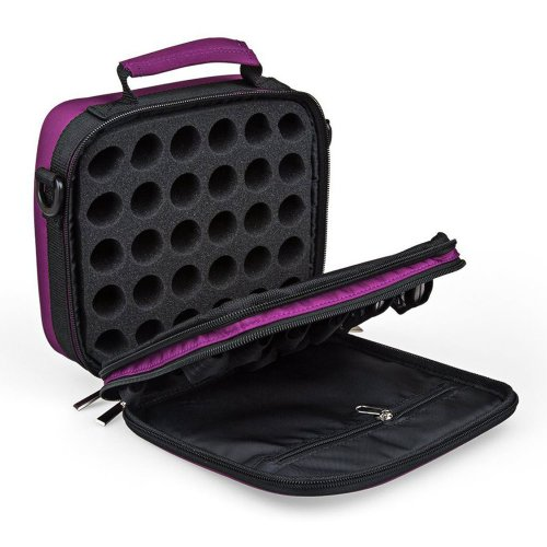 Aozzy 42 Slots Double-Layer EVA Foam Insert Essential Oils Handle Carrying Case Bag Nail Polish Storage Travel Carrying Case Bag with Shoulder...