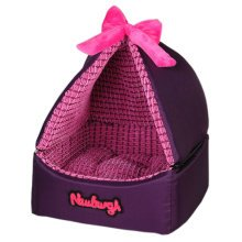 Skin Soft and Warm Pet House Dog Cat Pet Bed Puppy sofa, Purple Bowknot 30CM