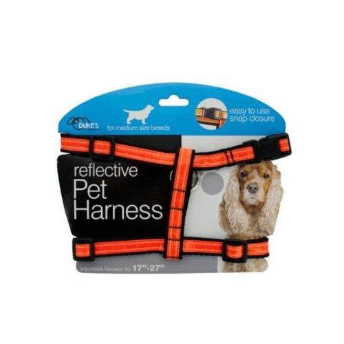 Kole Imports DI552-4 Medium Reflective Dog Harness - Pack of 4