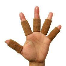 5PCS Sports Elastic Finger Sleeve Protector Brace Support - Beige