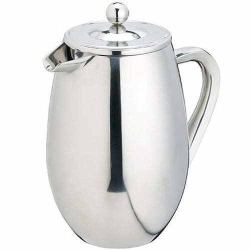 """KitchenCraft """"Le Xpress"""" Cafetiere for 3 Cups, Stainless Steel, Silver, 9 x 12 x 16 cm"""