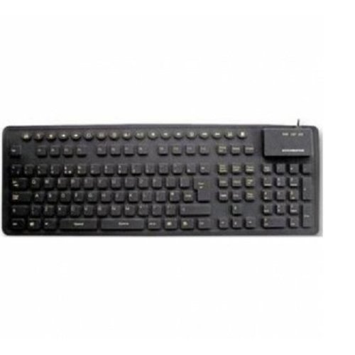 Accuratus Ceratech Combo (USB/PS2) Silicone MM Keyboard HIVIS Keys
