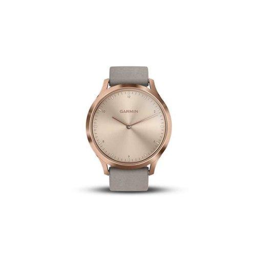 Garmin USA 010-01850-19 Vivomove HR Premium Watch - Rose Gold with Gray Suede