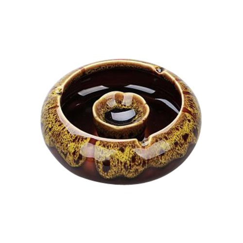 Functional Simple Ashtrays Home Office Decoration Ashtrays (Amber YELLOW)