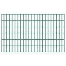 vidaXL 2D Garden Fence Panels 2008x1230 mm 36 m Green