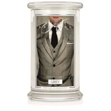 Kringle Candle Scented Large 22oz Classic Jar 2-Wick Grey