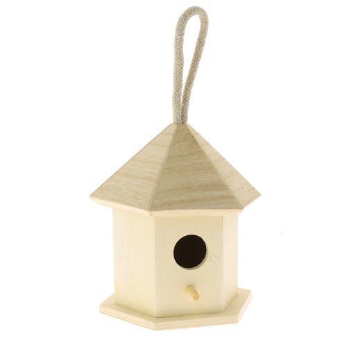 Wooden Birdhouse To Decorate - 11cm x 11cm x 12cm