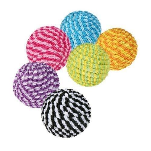 54 Spiral Balls, Ø 4.5cm - Lot Nylon Chew Play Toy Balls Pet Cat Kitten Trixie -  lot 54 spiral nylon chew play toy balls pet cat kitten trixie