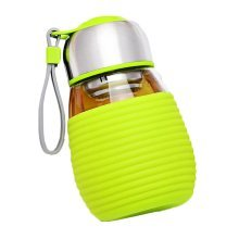 Resistant Glass Water Bottle with Hot and Cold Insulated Sleeve 400ml